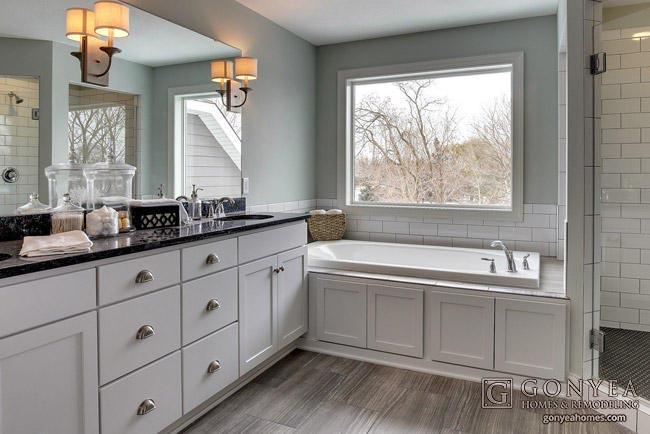 Princeton Hills Owners Bath In Woodbury MN New Custom Home Builder - Bathroom remodel woodbury mn