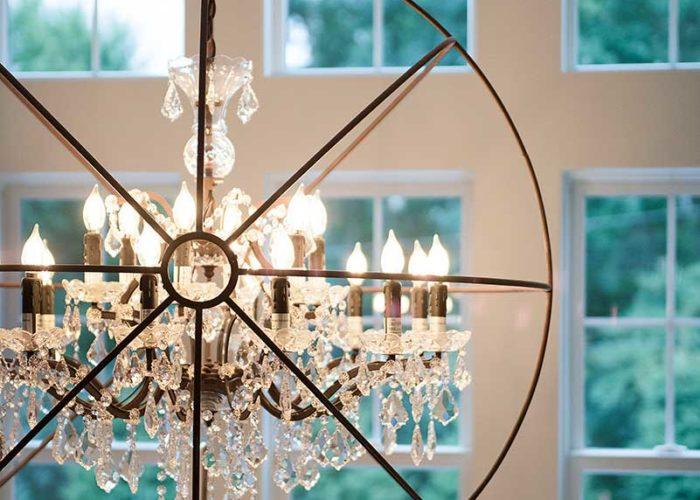 Unique crystal chandelier