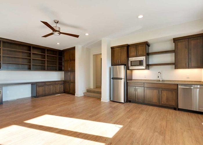 Rustic basement kitchenette