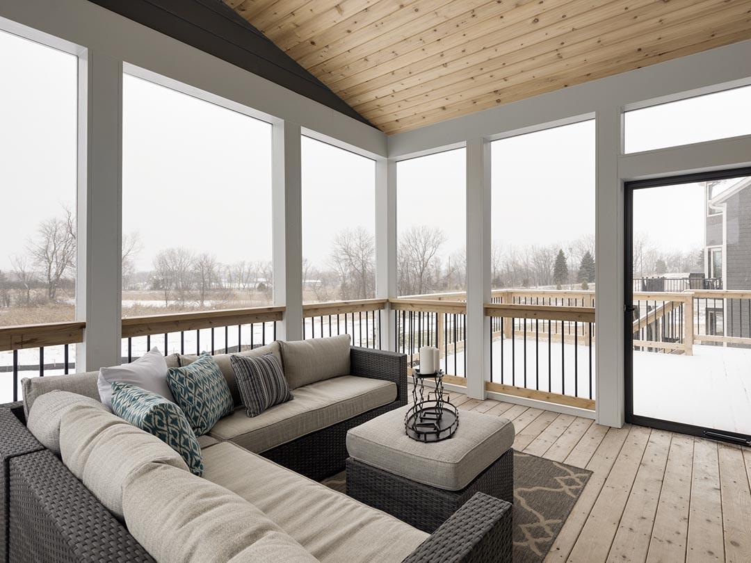 Seasonal patio with full windows
