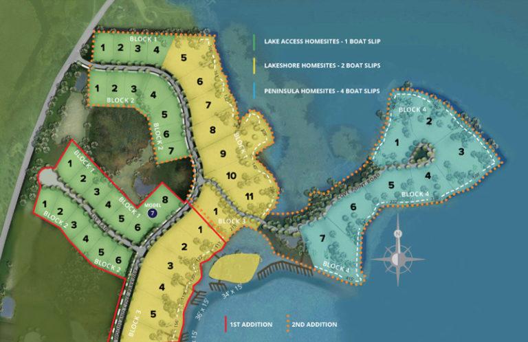 Site map of The Cove neighborhood
