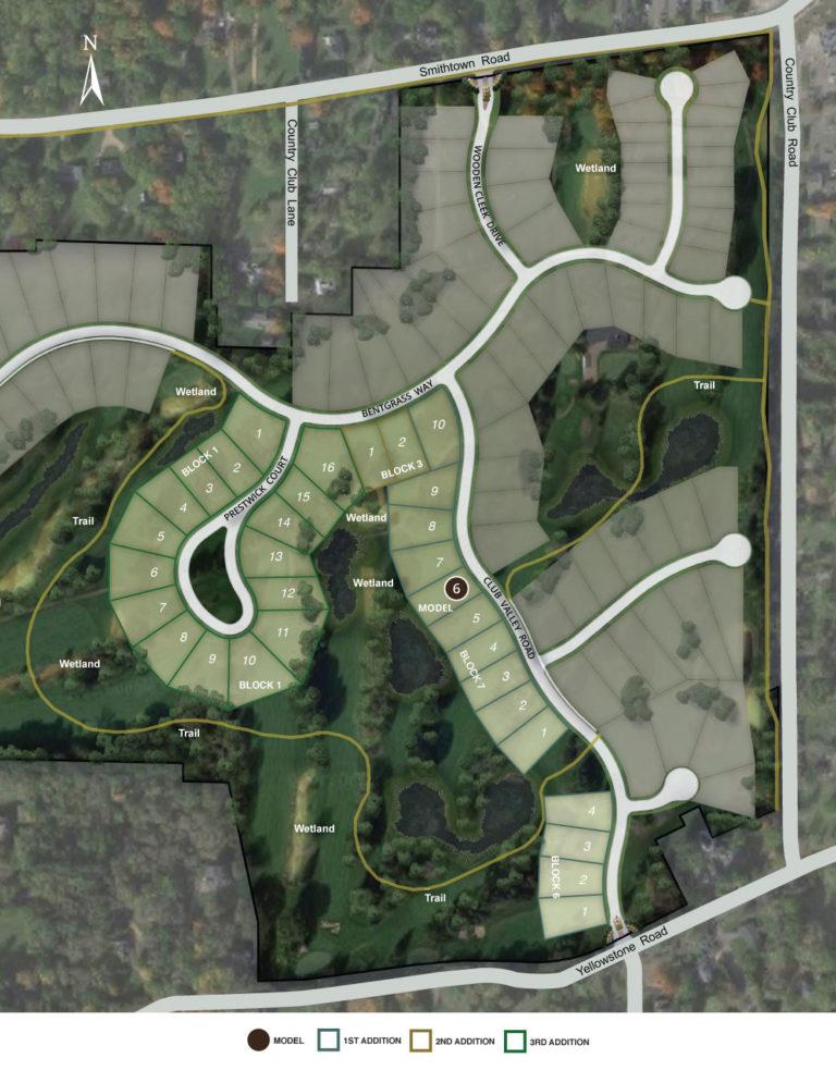 Site map of Minnetonka Country Club neighborhood