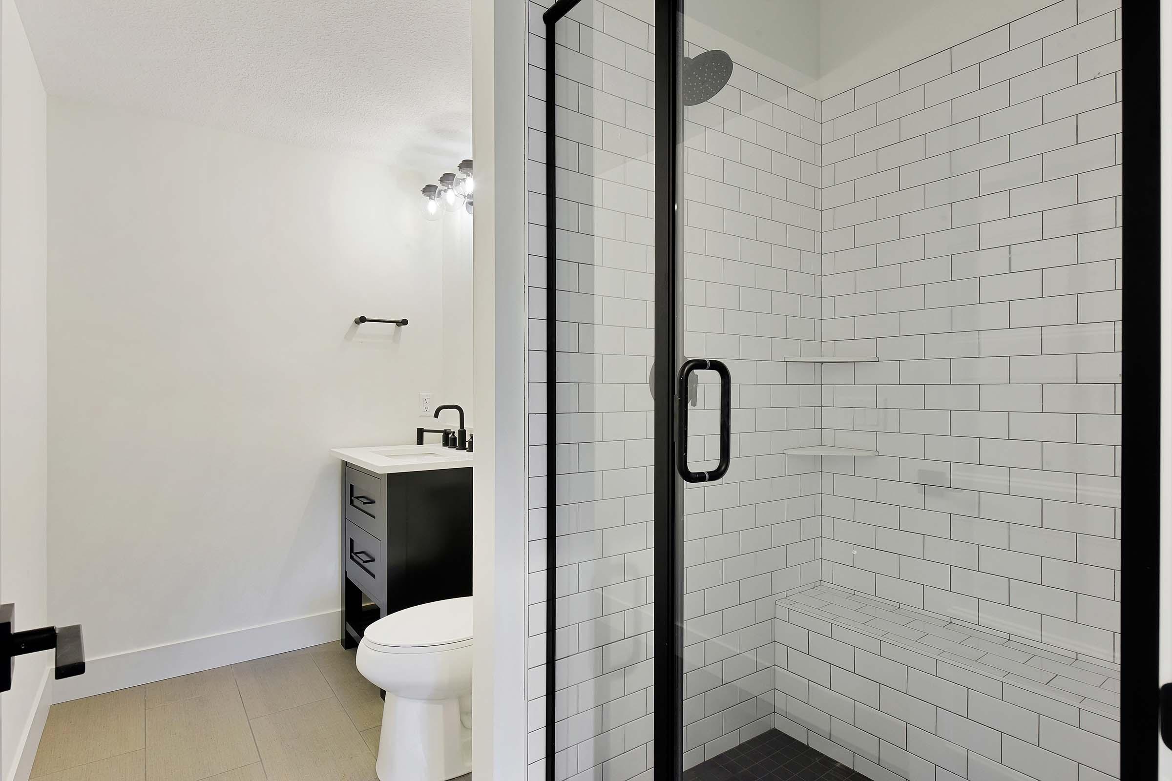 Shorewood Contemporary Lower Level Bath